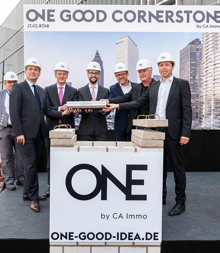 Grundstein für Büro- und Hotelhochhaus ONE gelegt
